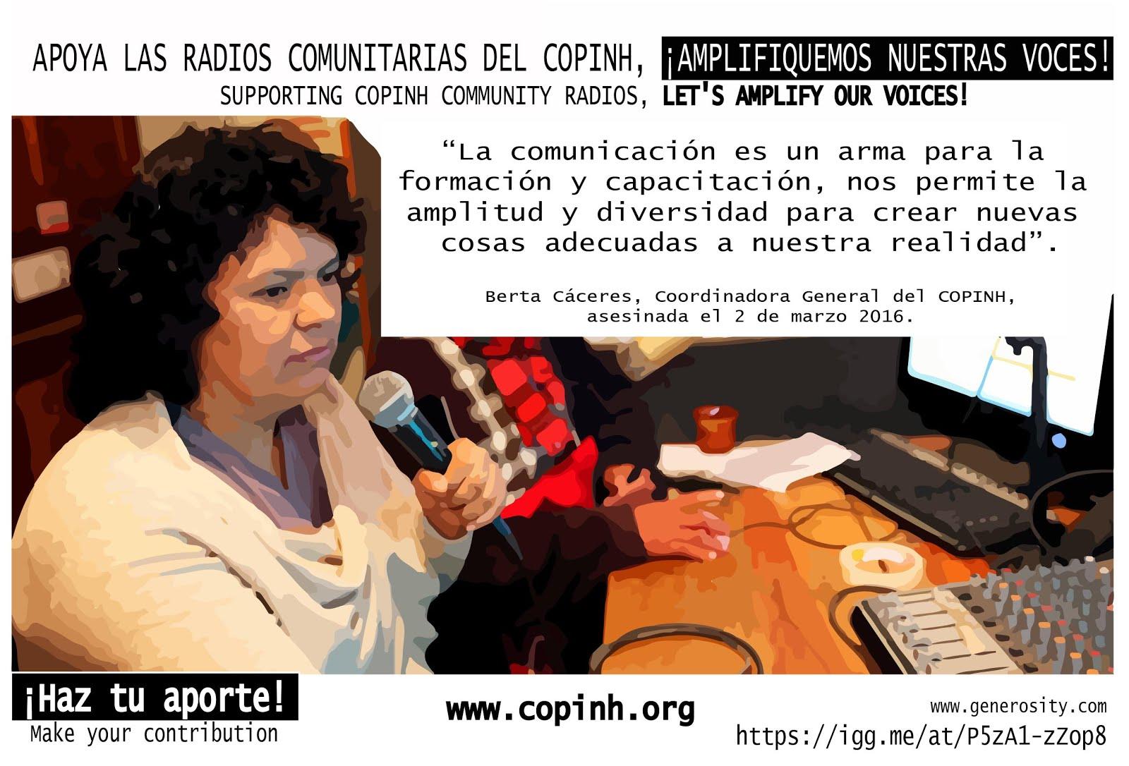 CAMPAÑA: APOYA LAS RADIOS COMUNITARIAS DEL COPINH