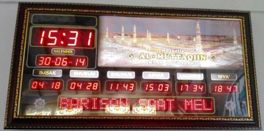 harga jam digital penunjuk waktu sholat - jual jam digital penunjuk waktu sholat