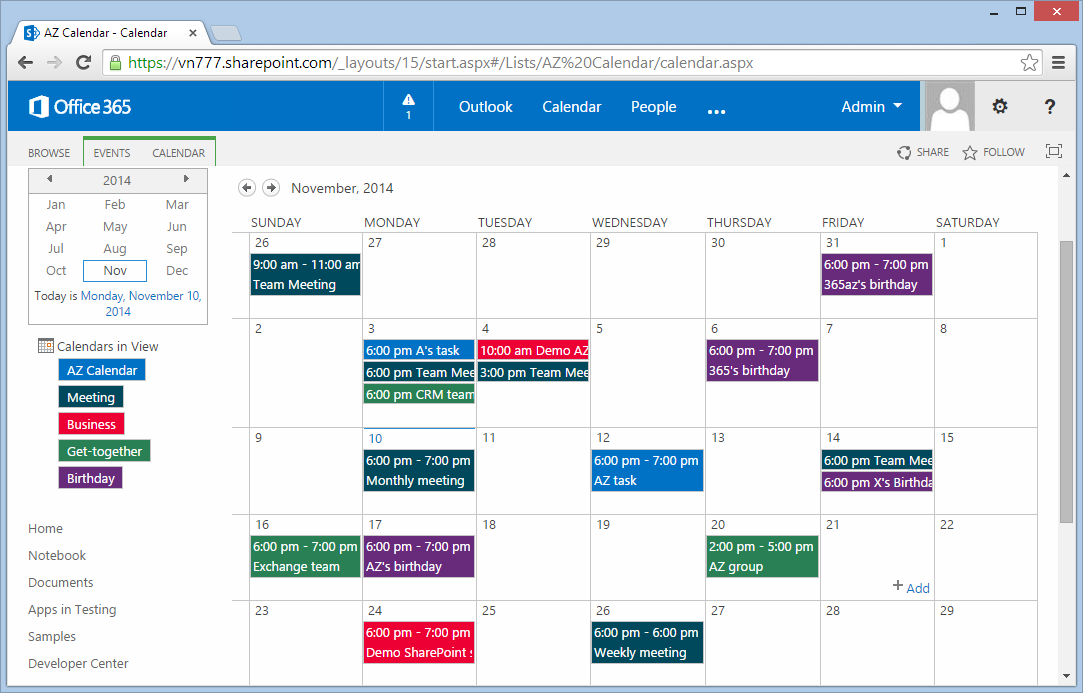 Weekly Calendar View Sharepoint : Color code sharepoint calendar
