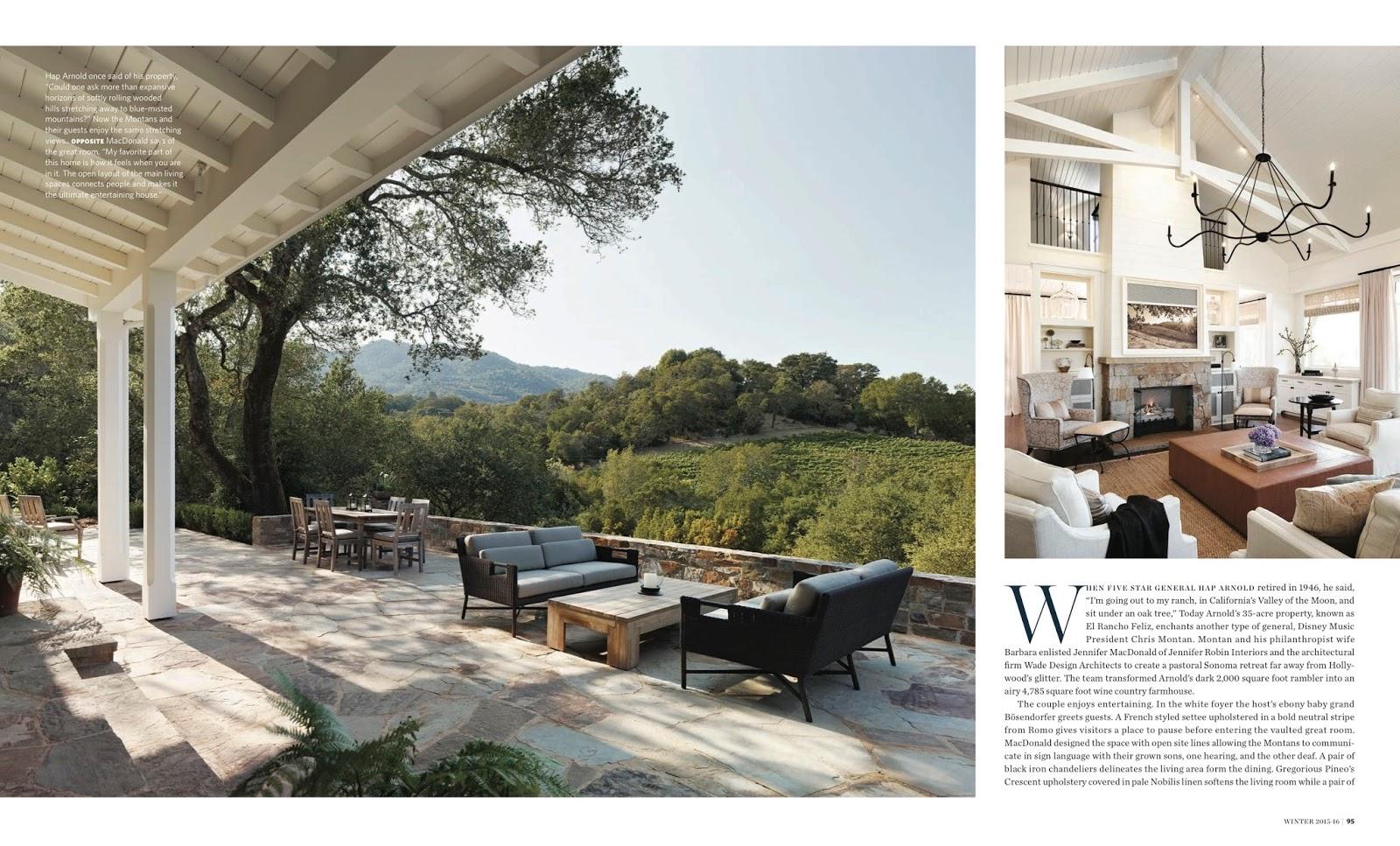 El Rancho Feliz California Homes Magazine Winter 2016