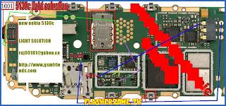 Nokia 5130 lcd light ways jumper diagram hardware problem solution