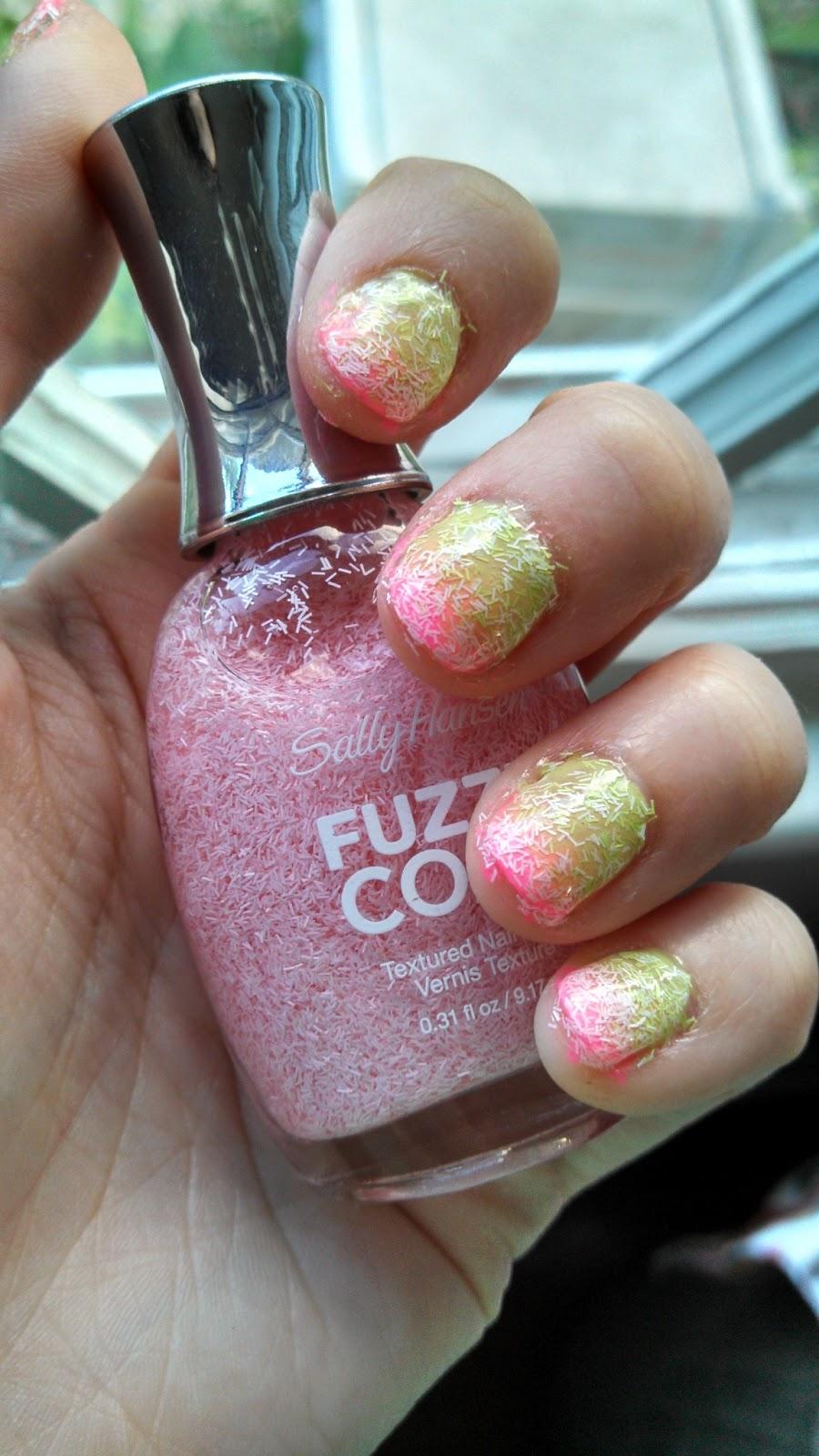 Nail Polish? Nail Polish!: Fuzzy Coat Gradient - Pink and Green
