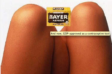 bayer aspirin between the knees