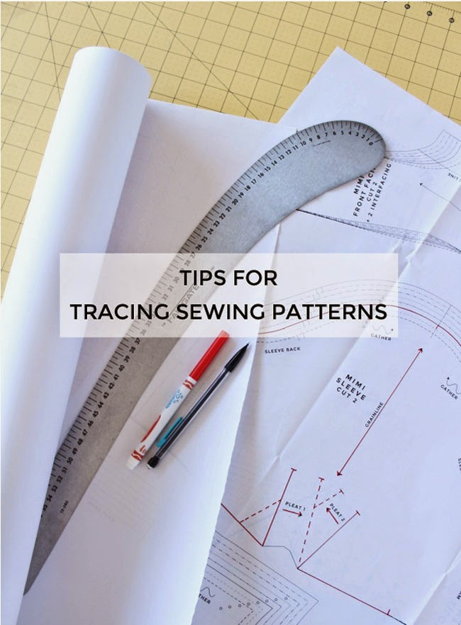 Tilly and the Buttons: Tips for Tracing Sewing Patterns