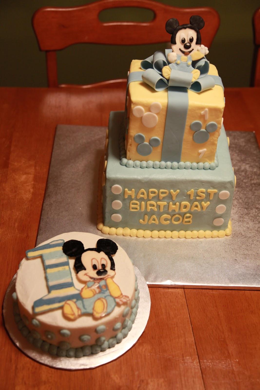 The Cake Box Girls Baby Mickey First Birthday Cake