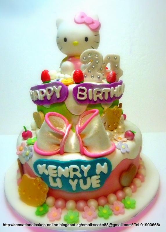 The Sensational Cakes HELLO KITTY 2 TIER CAKE SINGAPORE 21ST