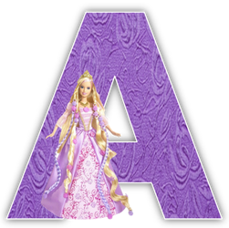 Alfabeto de Barbie Princesa.