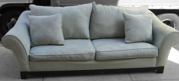 Handy Microfiber Light Blue Couch Images Frompo