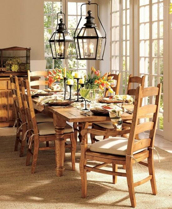 Dining Room Table Spring Decor Ideas 550 x 665