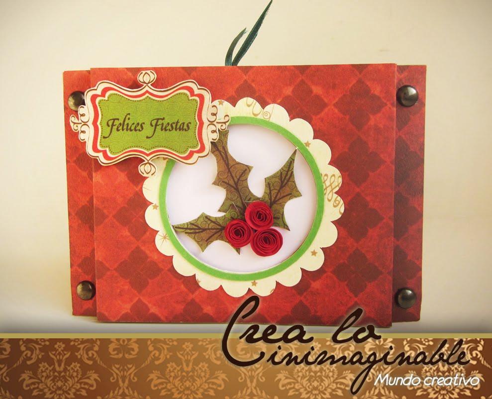 Crea lo inimaginable tarjeta navide a de ventana - Tarjetas navidenas creativas ...