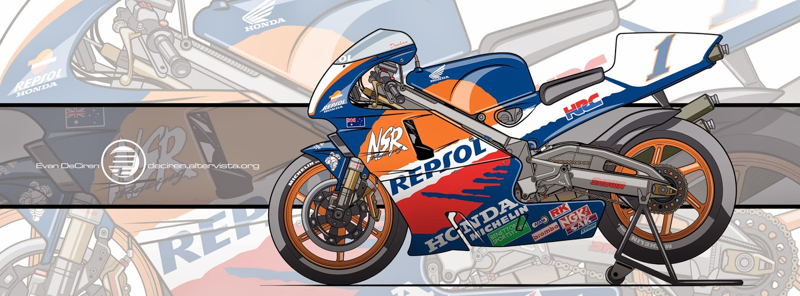 Racing Cafè Motorcycle Art Honda Nsr 500 1996 By Evan Deciren
