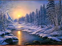 В лучах зимнего солнца.