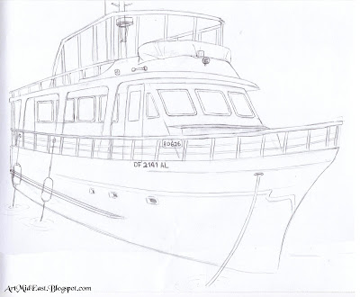 how draw boat step details