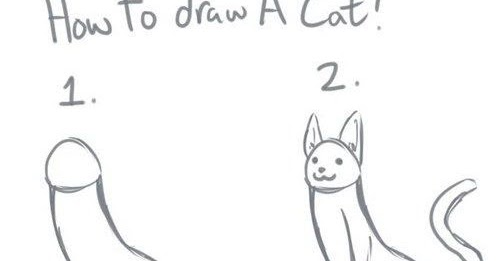 It 39 s fun to have fun funny pic how to draw a cat for Fun to draw cat