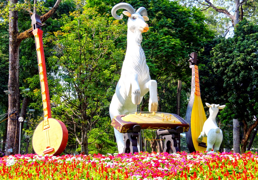Hội hoa xuân 2015 công viên Tao Đàn