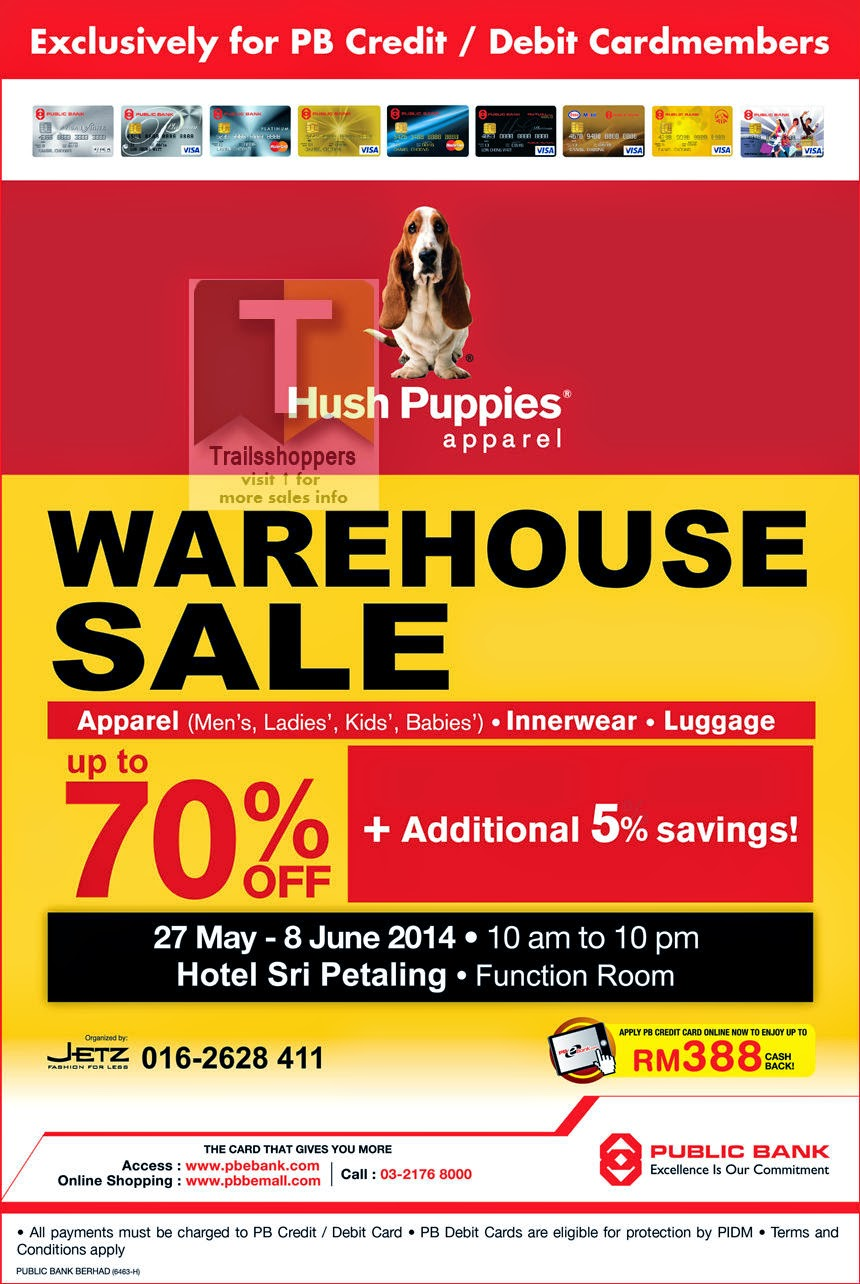 Hush Puppies Apparel Warehouse Sale 2014