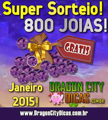 Super Sorteio - Concorra à 800 Joias - Janeiro 2015