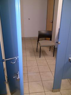 Empty Chair in Men's Room
