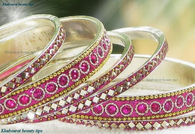 Latest fashionable bangles for brides