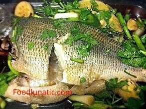 Chinese Steamed Fish with Ginger and Scallions