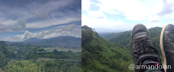 Indahnya Matahari Terbit di Tebing Keraton Bandung