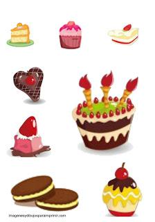 Imprimir y recortar pasteles