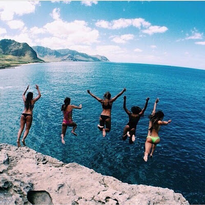 cliff jumping, bucket list, too afraid to do it