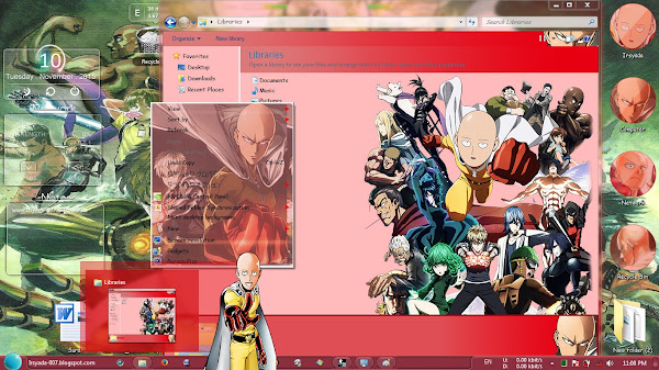 / theme windows 7 / one punch man 3