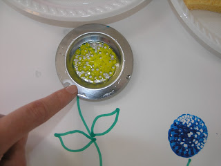 Sink strainer flowers for Spring or Mother's day from Clever Classroom