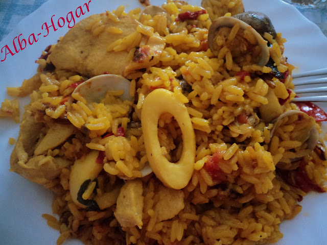 arroz con pollo y almejas alba hogar