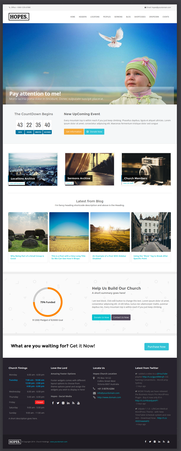 Hopes Church & Multipurpose WordPress Theme