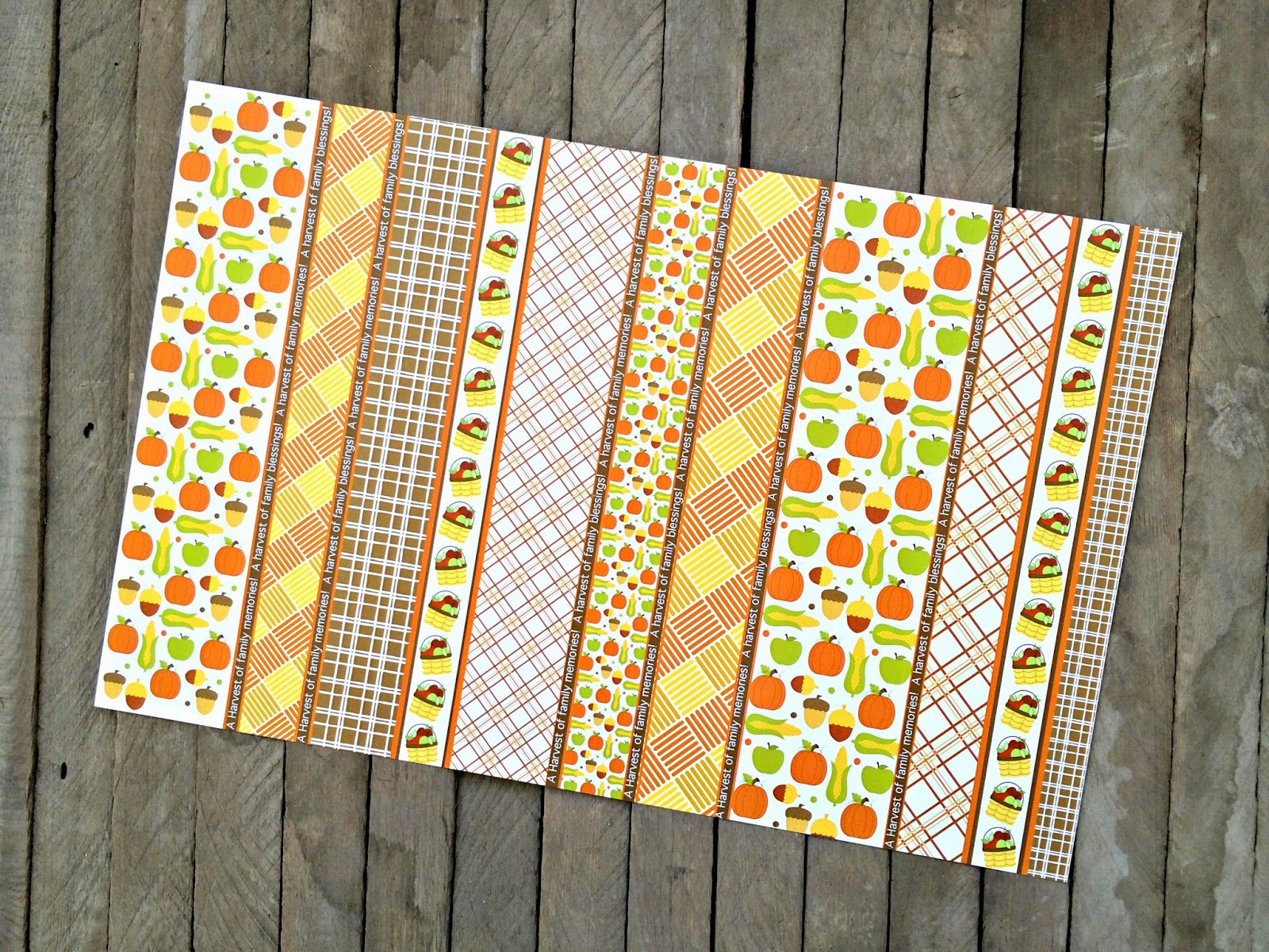 Lydia's Fall Fun Placemats