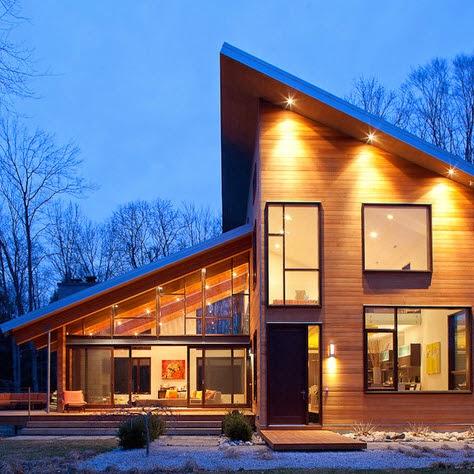 Fachadas de casas modernas en el campo dise os y estilos - Techos para casas de campo ...