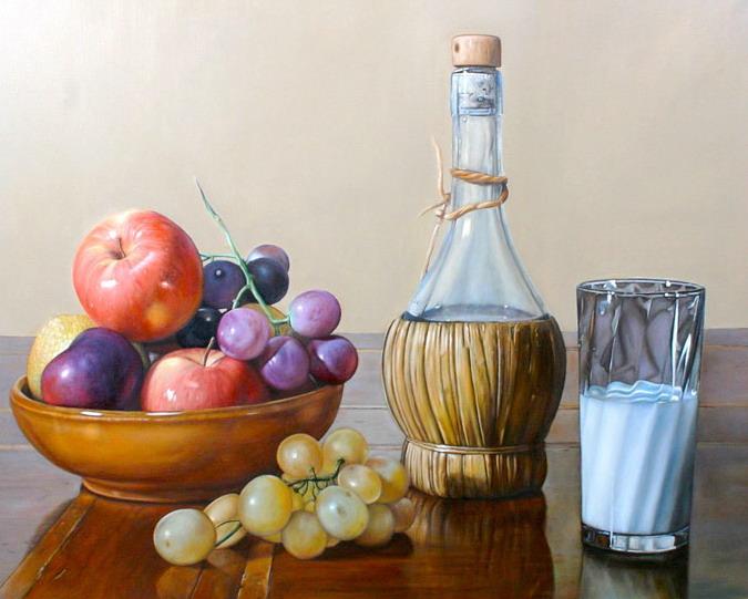 Cuadros modernos pinturas y dibujos bodeg n con frutas - Cuadros bodegones modernos ...
