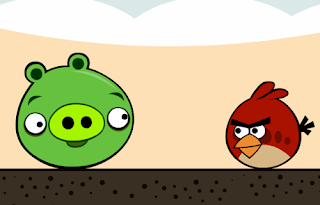 angry birds, green pig, red bird,
