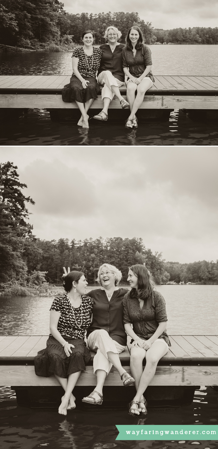Hersey Family Adventure on Lake James, NC   Mother & Daughters Portrait   Boone North Carolina Family Photographer