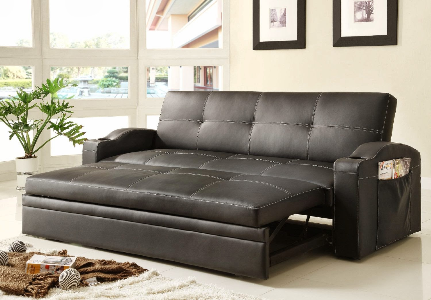 Best Homelegance 4803BLK Sofa Bed Review ConvertibleAdjustable