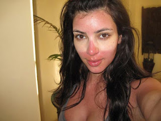 funny picture of Kim Kardashian face