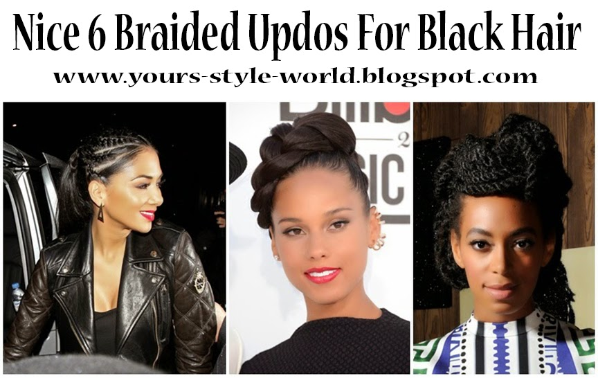 Style World For Women Nice 6 Braided Updos For Black Hair