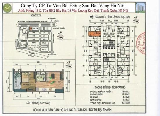 Chung cư Đại Thanh Ct8 42,15m2