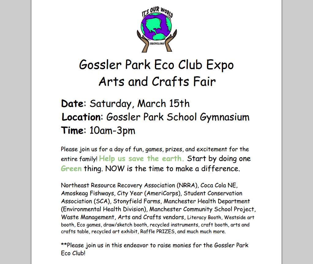 Gossler Park Eco Club Expo