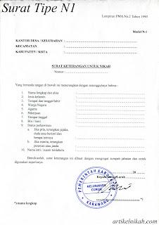 surat persetujuan mempelai jenis n4 surat keterangan tentang orang tua