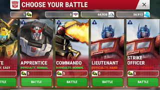 transformers earth wars battle modes
