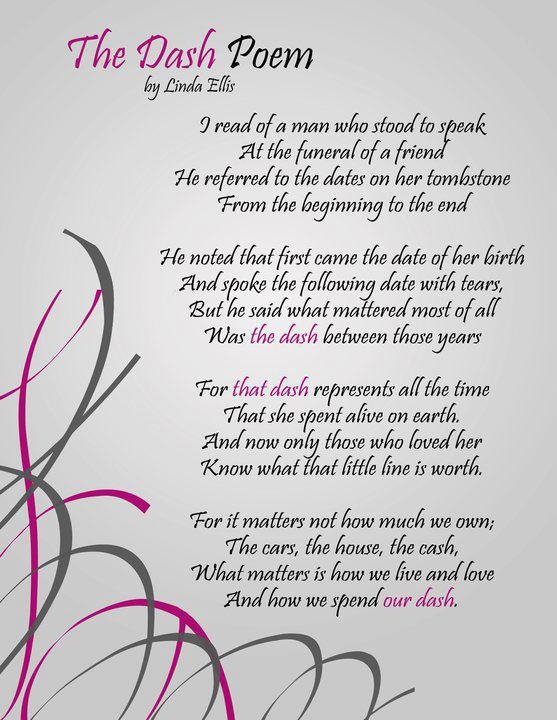 Ridiculous image in poem the dash printable