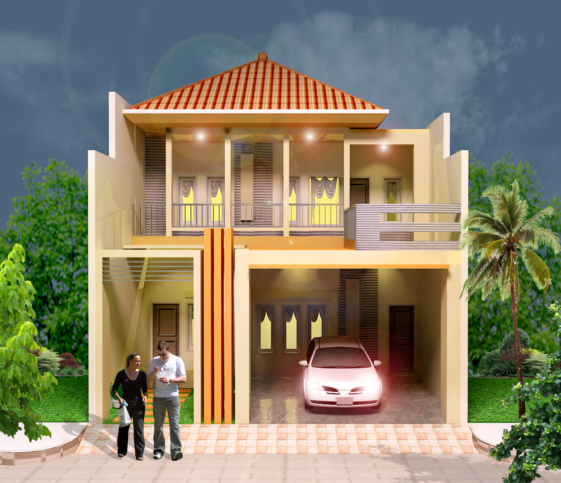 100 Gambar Rumah Minimalis 2 Lantai Sangat Sederhana Gambar Desain
