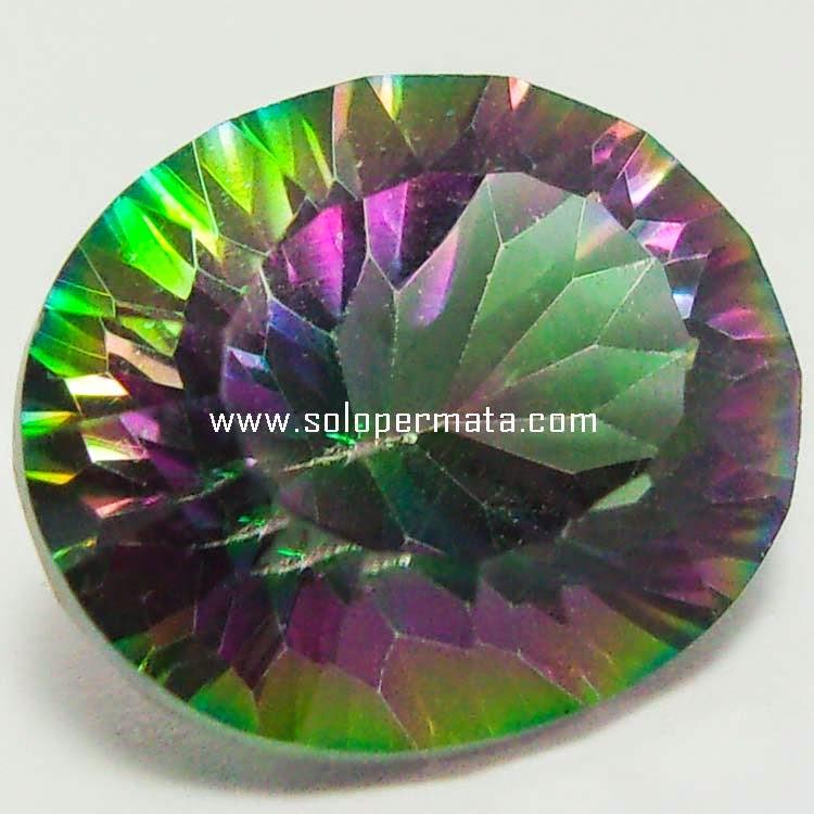 Batu Permata Rainbow Mystic Quartz - Sp070