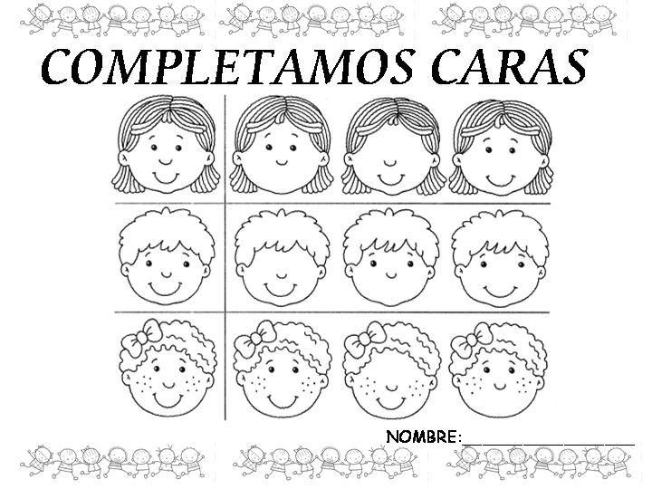 Caras de niños con fomi - Imagui