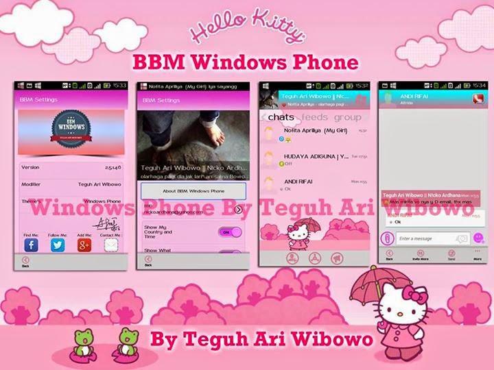 Apps BBM2 Mod WP Tema Hello Kitty Versi terbaru