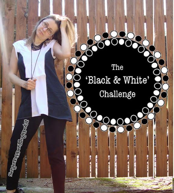 SergerPepper.blogspot.it - Black and White Challenge - Minidress tutorial