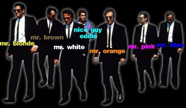 Reservoir Dogs Colors Names
